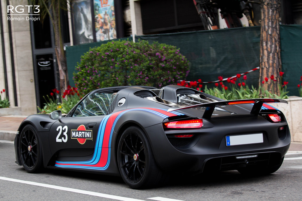 porsche 918 spyder already in monaco romain drapri. Black Bedroom Furniture Sets. Home Design Ideas
