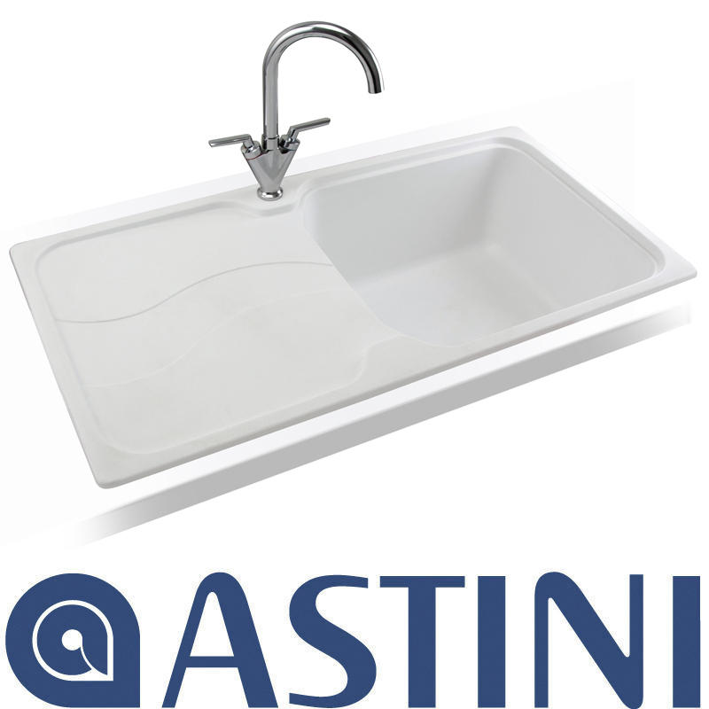 Astini Visage 1 0 Bowl Granite Opal White Kitchen Sink T Flickr