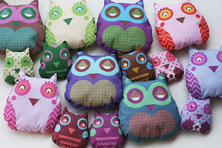 Soft fabric owls | by Katarina Roccella