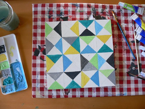 Jenny: Painting Triangles | by Stumbles & Stitches