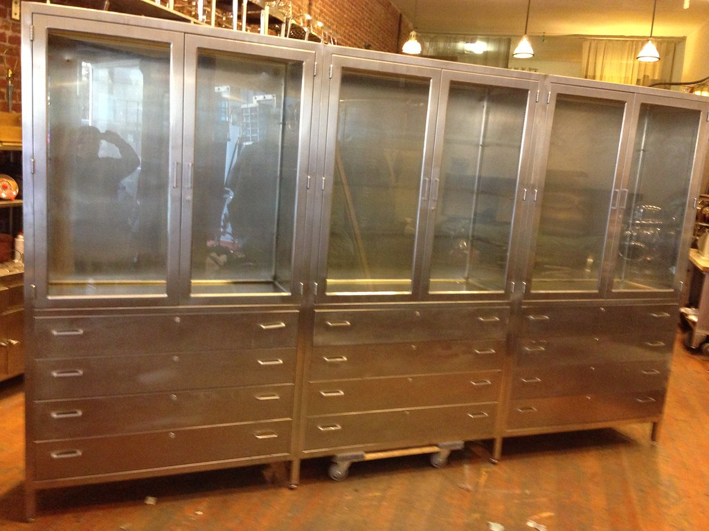 12ft Vintage Stainless Steel Medical Cabinet | Stainless Steu2026 | Flickr