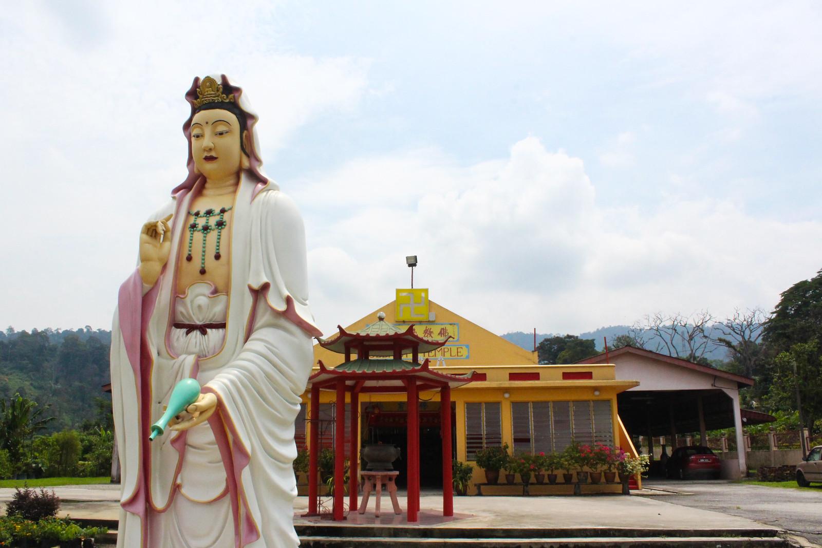 各式各樣的華人廟宇是雙溪毛糯院內重要的建築地景。(攝影:何欣潔)