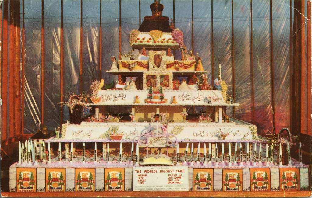 Worlds Biggest Birthday Cake 10000 Lbs 1958 Nanaimo B Flickr
