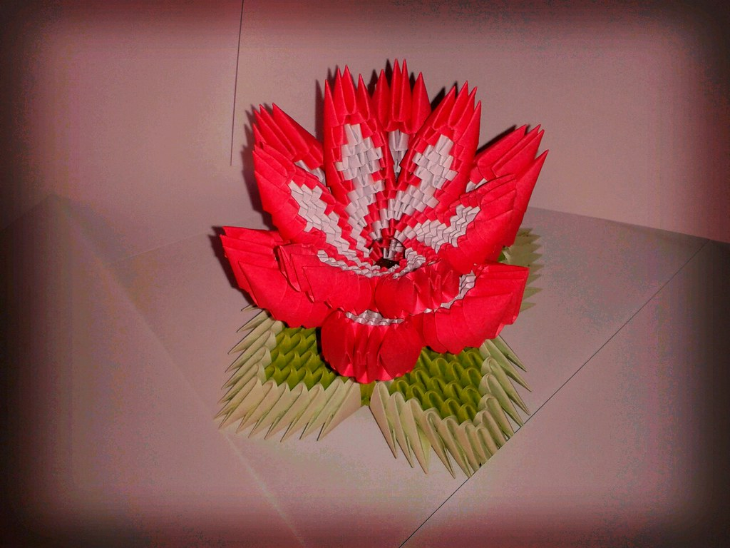 Origami 3D Flower 2 | Fiore in origami 3d... Formato da ... - photo#15