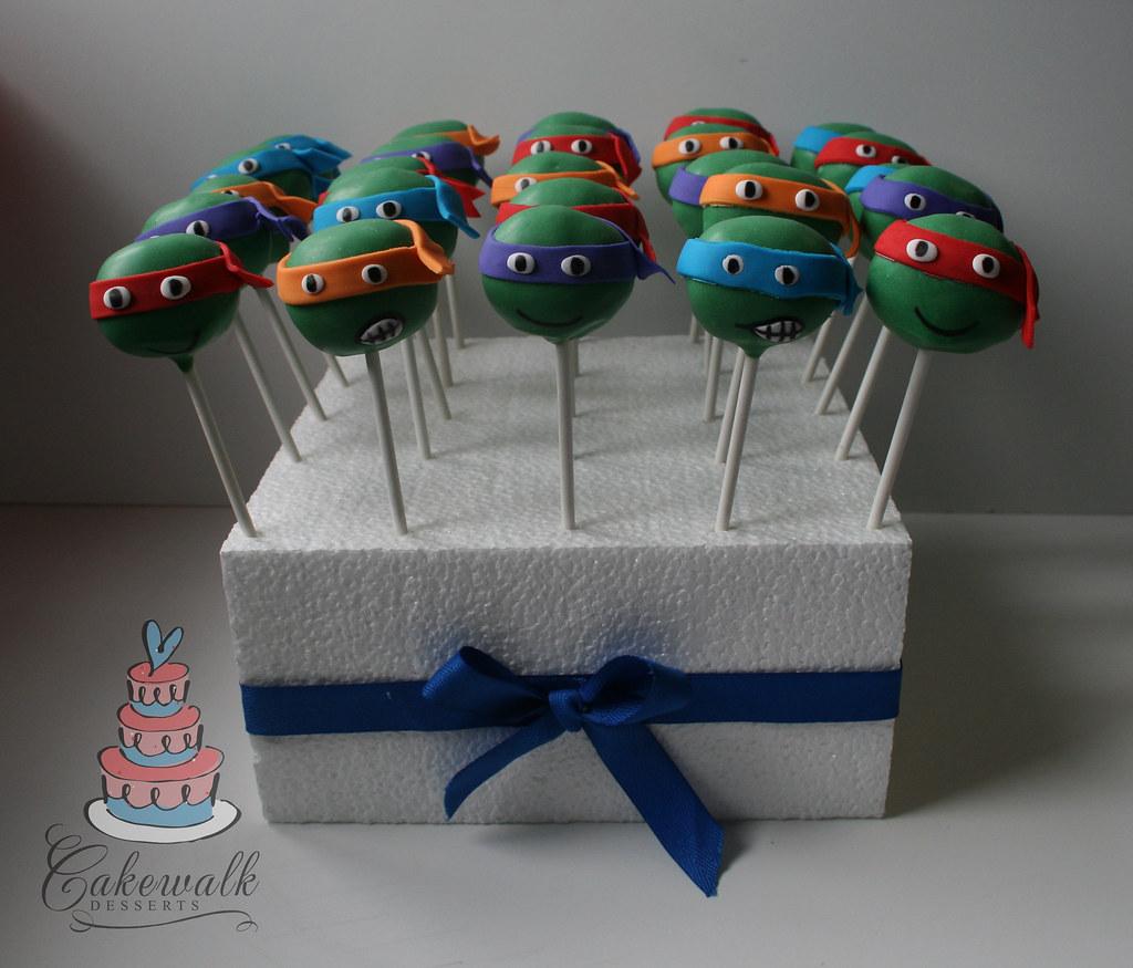 Teenage Mutant Ninja Turtle Cake Pops Heather Morris