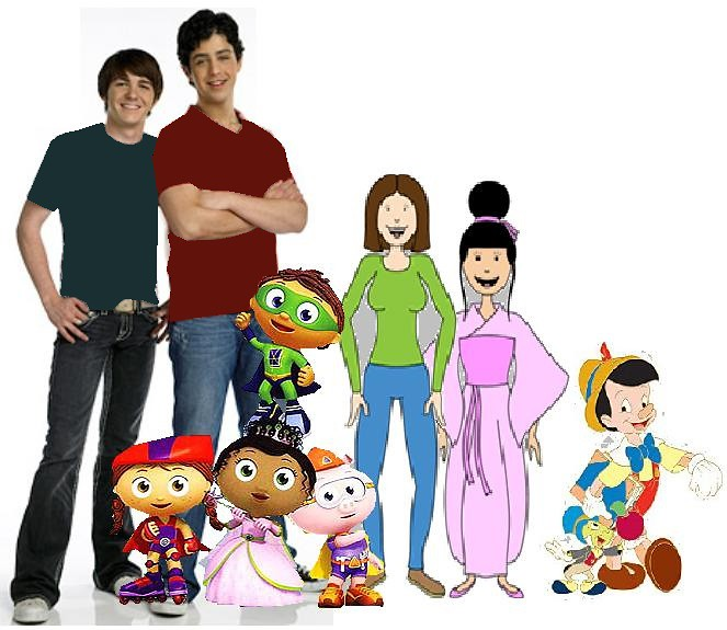 Drake & Josh Super Why & Wonder Red & Princess Presto & Al
