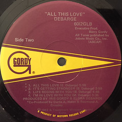 DEBARGE:ALL THIS LOVE(LABEL SIDE-B)