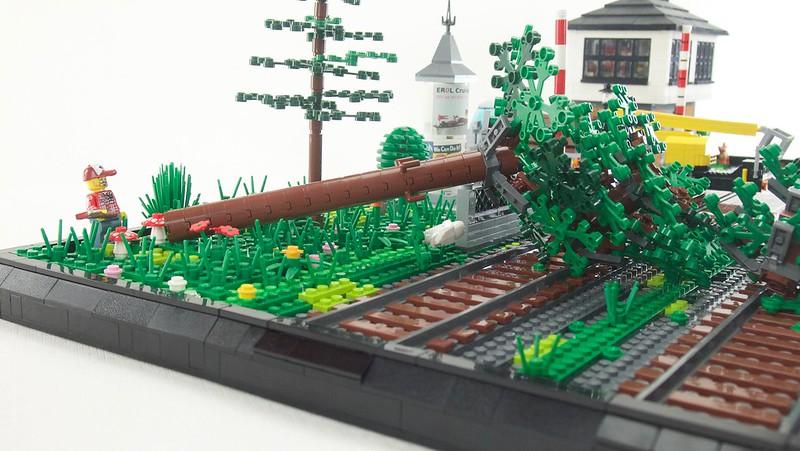 Baumfällarbeitern