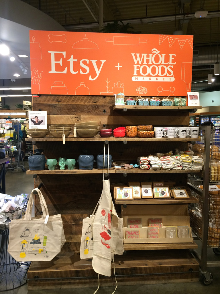 Corner de Etsy en Whole Foods Tribeca NY