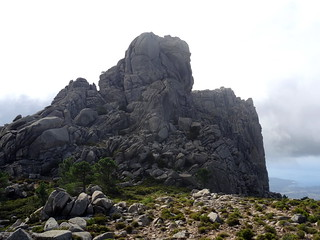 Les deux sommets depuis la crête Nord