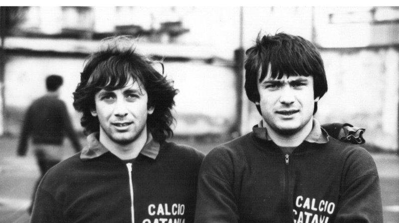 Damiano Morra insieme a Gigi Chiavaro in una foto anni '70