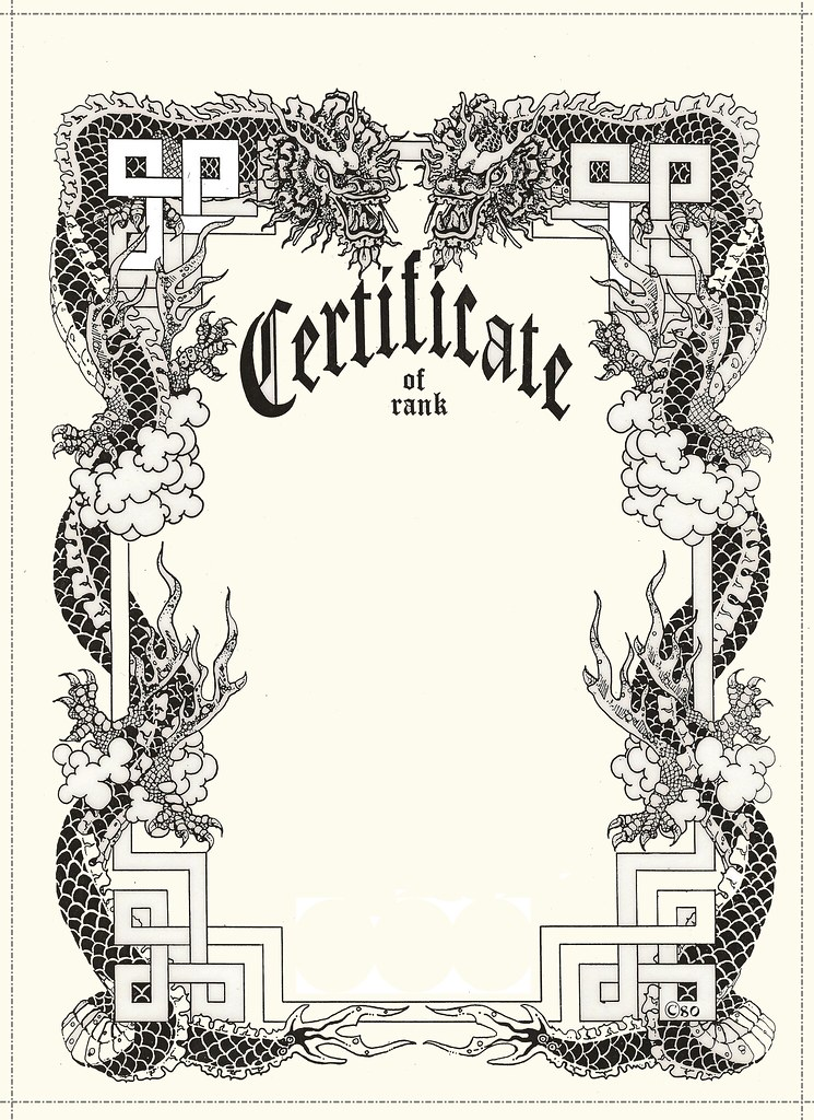 free blank certificate | free martial arts certificate | Flickr