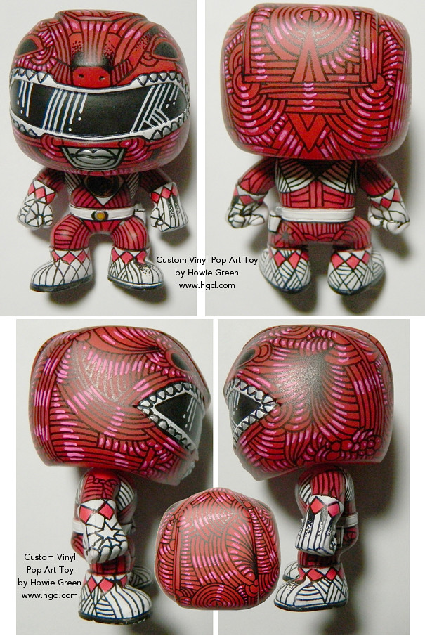 Funko Pop Red Power Ranger Custom Vinyl Toy By Howie Green