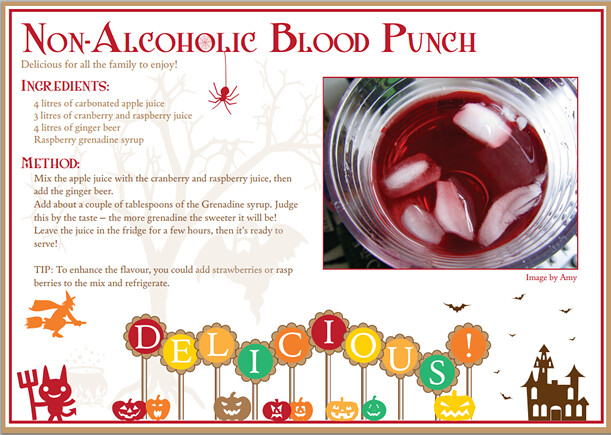 Halloween recipe non alcoholic blood punch attribution for Halloween green punch recipes alcoholic