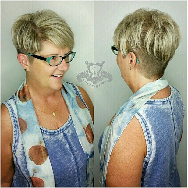 Beige Blonde Highlights☇Faded Undercut Pixie Haircut #pixi