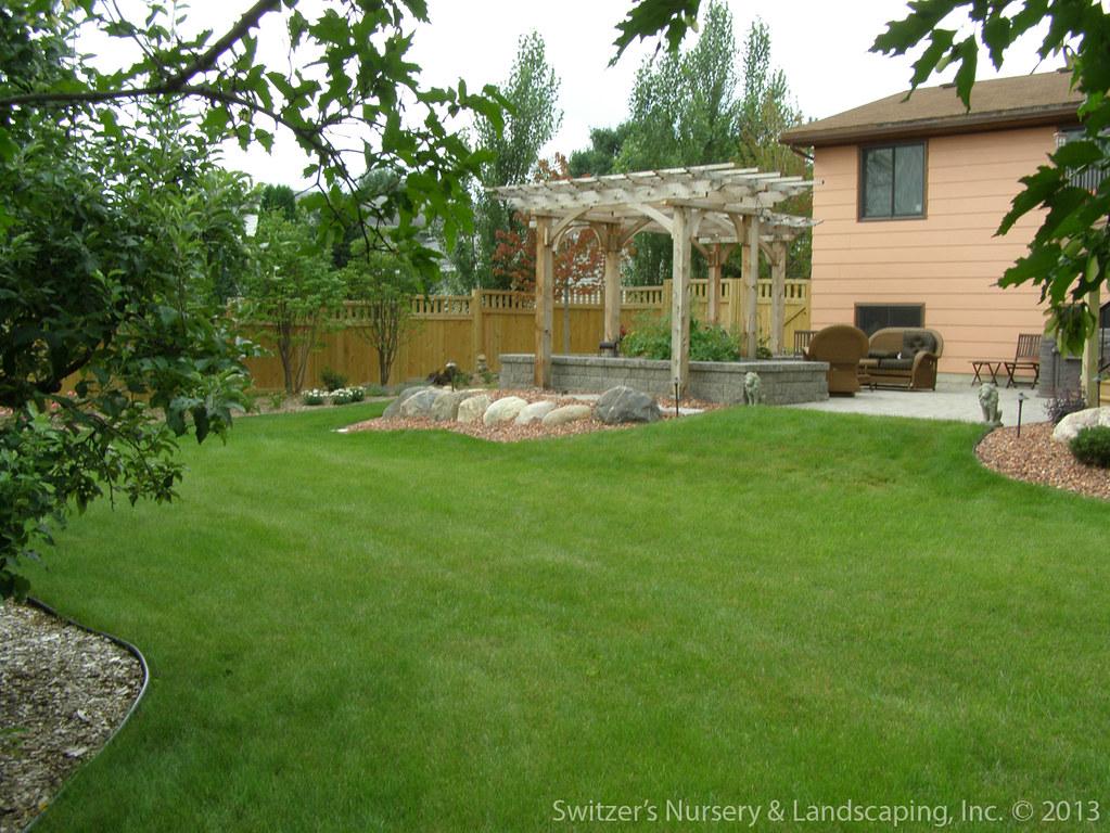 Patio Pergola Deck Minnesota Backyard Landscape Ideas