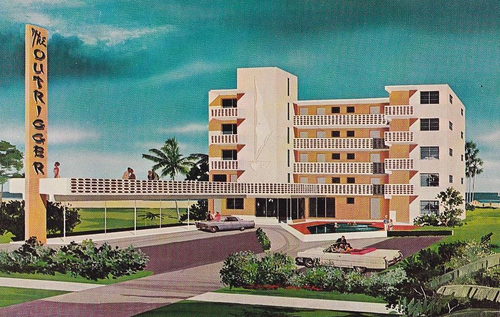 The outrigger motor hotel ft lauderdale fl back of for Blue sea motor inn