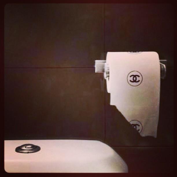 ... Perfect #chanel #bathroom #toiletpapper #chanelpapper #elegant #toilet  #class #