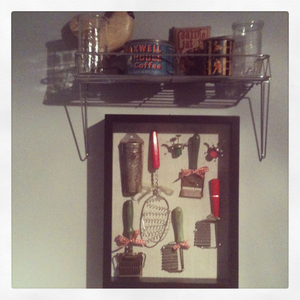 Vintage Kitchen Utensils Display
