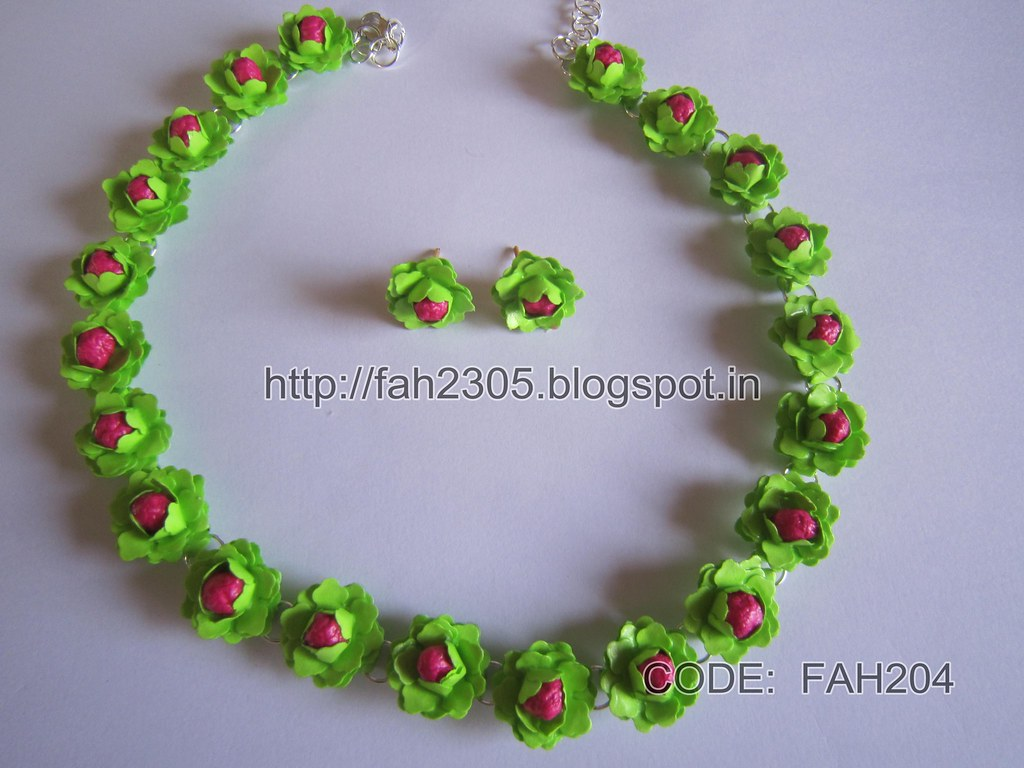 Handmade Jewelry Paper Punch Flower Jewelry Set Code Fa Flickr