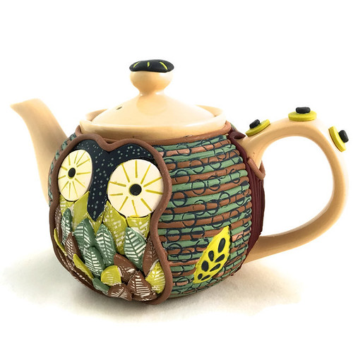 Polymer clay teapot | by higirlsdesigns