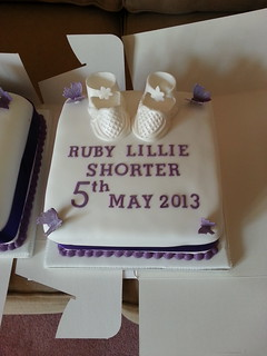White Booties Christening Cake | by platypus1974