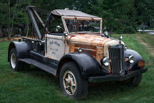 1940 S White Motor Company Truck Wa2x Bar Harbor Maine