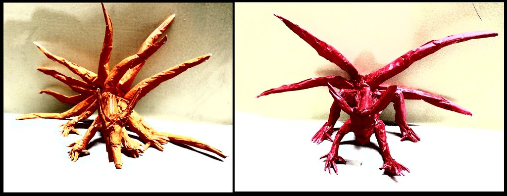 Origami Kyuubi 9 Tails And 4 Tailsrandom Huhwould Flickr