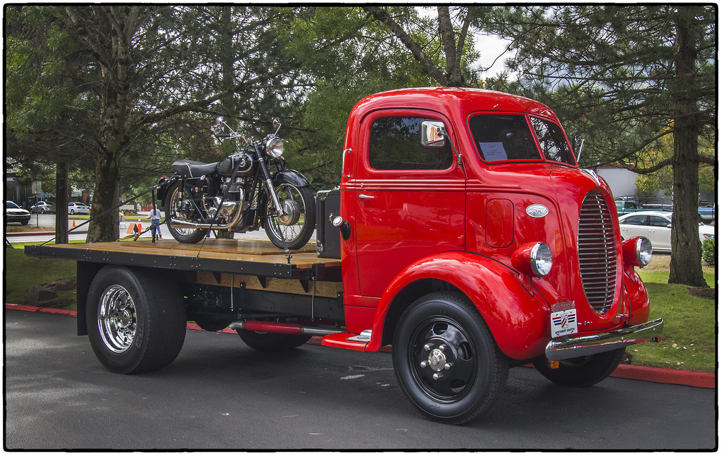 Red Cab Over | 1939 Ford COE with 1960 Matchless Olympus E ...