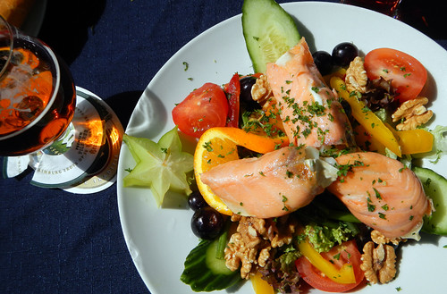 fabulous Smoked Salmon & Chevre Cheese Salad in Maastricht, Holland