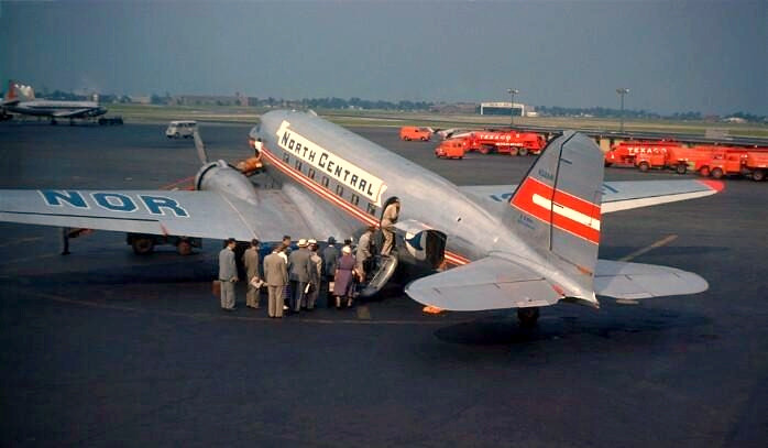 Chicago Midway Airport North Central Airlines Dc 3