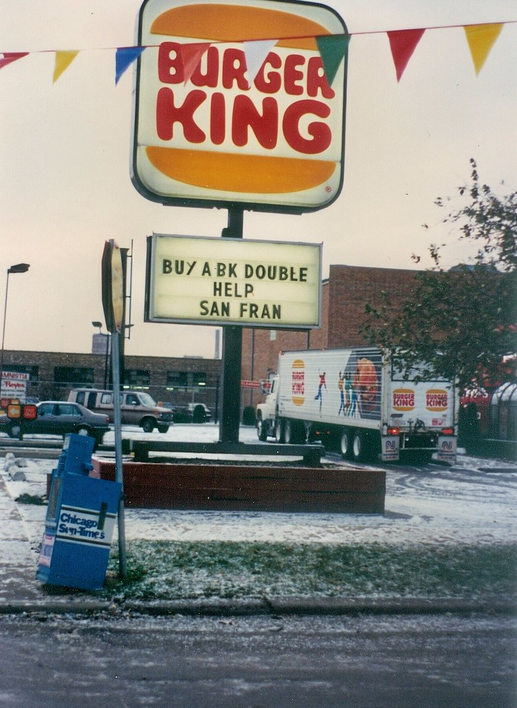 historic photo a burger king sponsored disaster relief pr