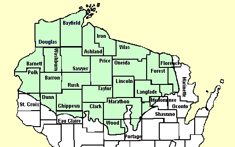 Wisconsin Ceded Territory | The Ceded Territory, shown in gr… | Flickr