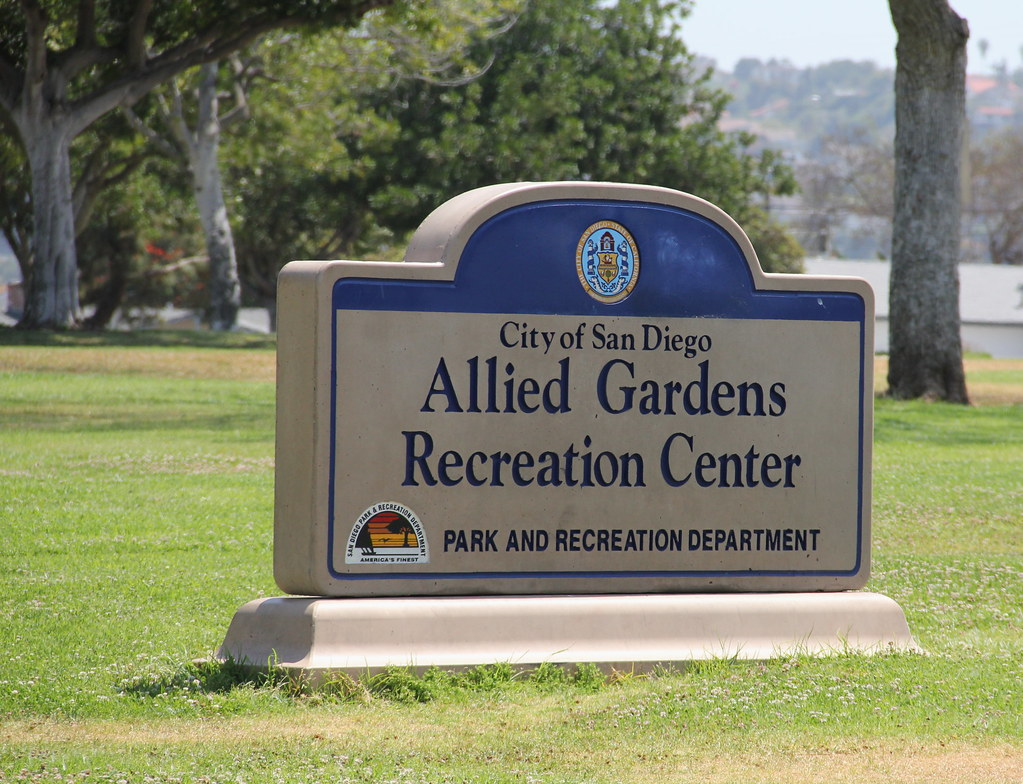 allied gardens recreation center sign driven to capture 2 flickr