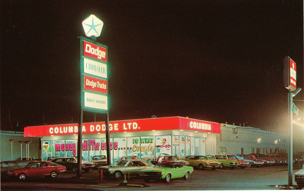 Columbia Dodge Ltd., New Westminster, B.C., Canada, 1970