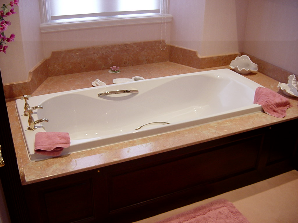 Rosa Tea Marble Bath Surround | Natural Stone bath surround … | Flickr