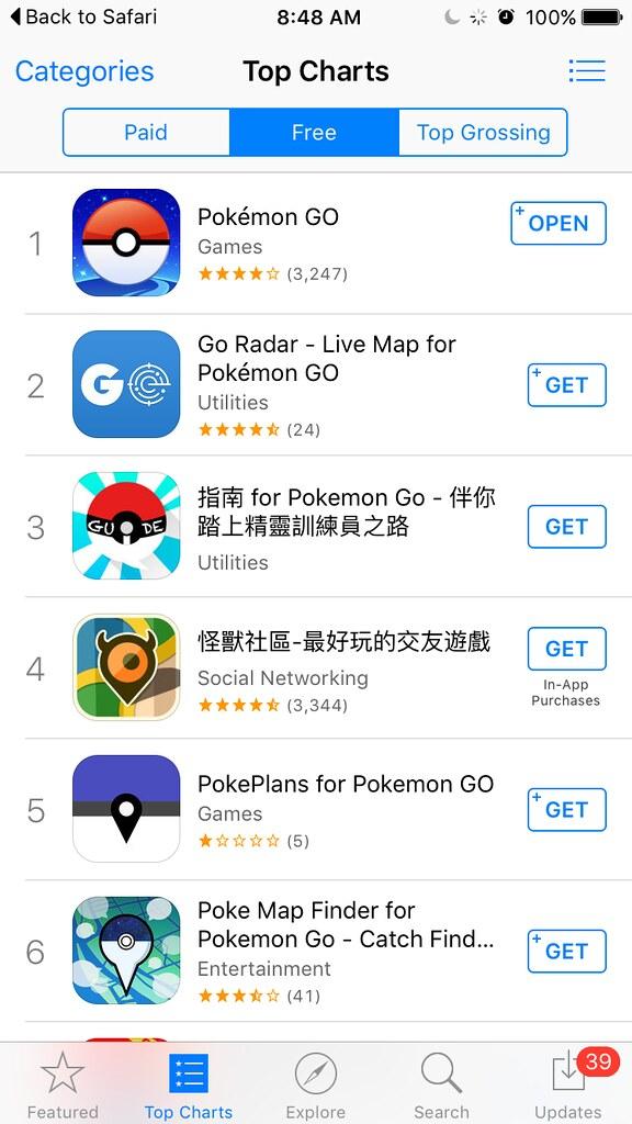 Pokémon y sus complementos son las aplicaciones más descargadas en Taiwán