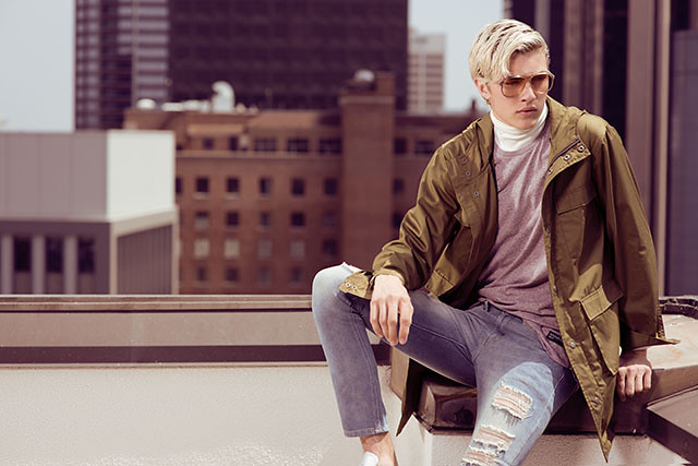 Penshoppe Rules The City Lucky Blue Smith Style Guide Decoding Look Male Model Duane Bacon Blog Blogger Fashion Philippines Utilitarian Jacket Army