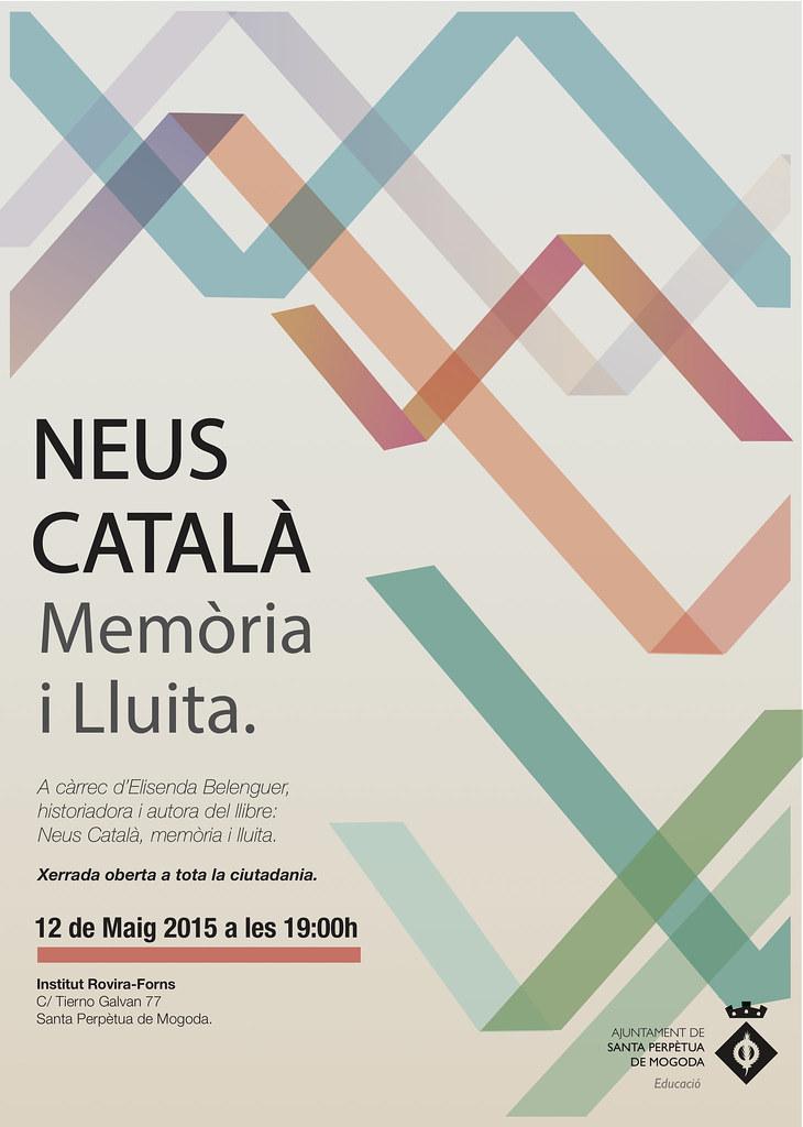 """Cartell de la Xerrada """"Neus Català, Memòria i LLuita"""""""