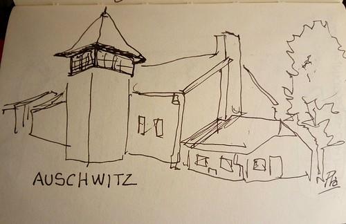 Un dibujo mio de Auschwitz