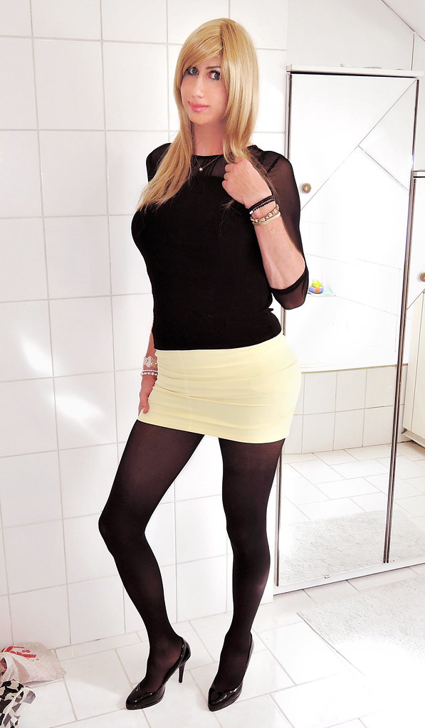 Black Tights Short Skirt