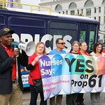 U.S. Senator Bernie Sanders Hosts LA Rally for Lower Drug Price Initiative, Yes on Prop 61