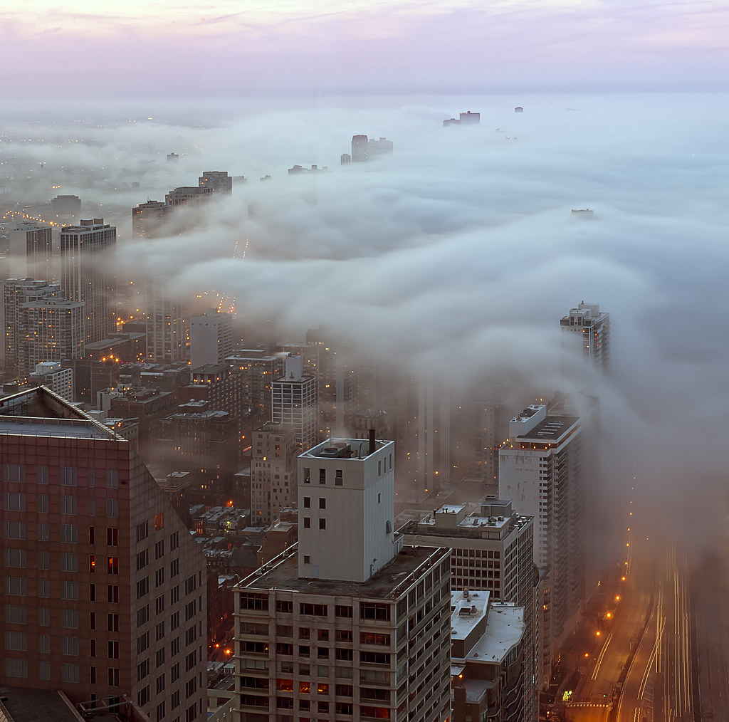Chicago Fog | Taken from the John Hancock in Chicago. Fog ... | 1024 x 1014 jpeg 211kB