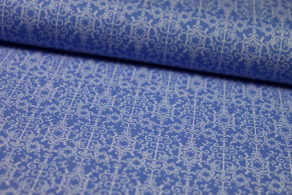 """Baumwollstoff """"Sternenzauber"""", blau"""