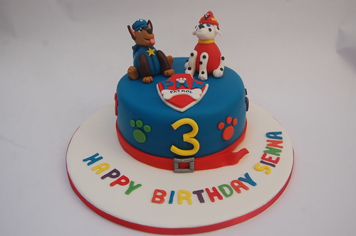 We've done Paw Patrol before, but have never combined Marshall and Chase! We think they make a winning combination! The Paw Patrol Cake - from £70.