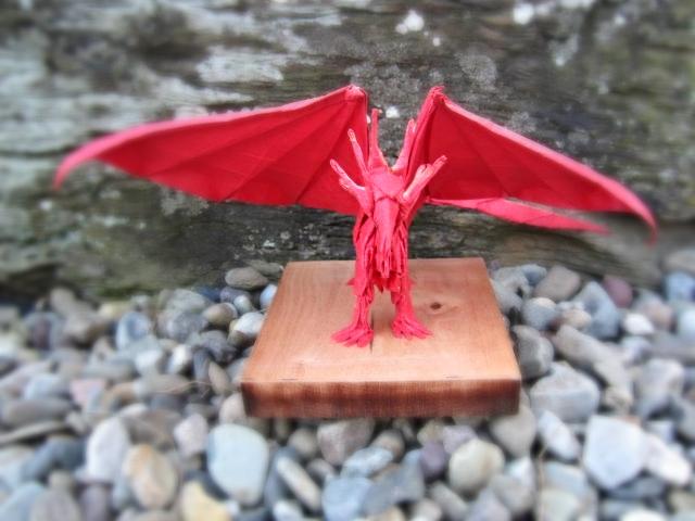 Origami Ancient Dragon Designed By Satoshi Kamiya Folded Flickr