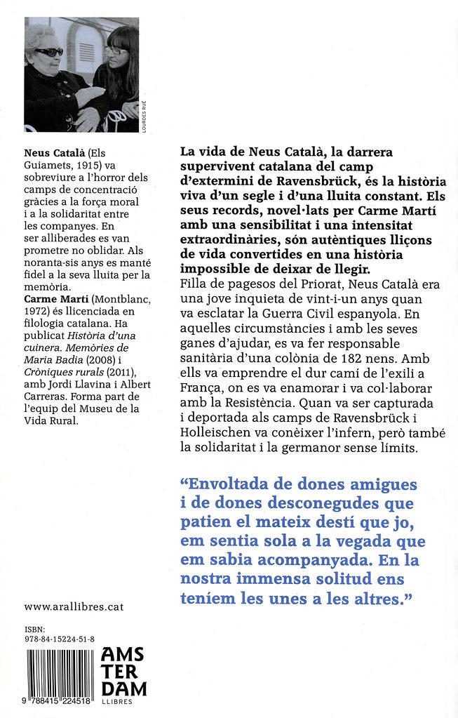 MARTÍ, Carme. Un Cel de plom. Barcelona o Badalona: Amsterdam llibres // Ara Llibres, 2012 i 2013 (Contraportada)