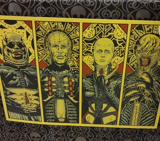Bought this fucking rad print from @gorenoirmag at @sinistercreaturecon. Need to find a frame soon! #gorenoir #hellraiser #cenobites #cenobite #pinhead #butterball #thefemale #chatterer #femalecenobite #bodyhorror #clivebarker #sinistercreaturecon | by Always Wrong Film