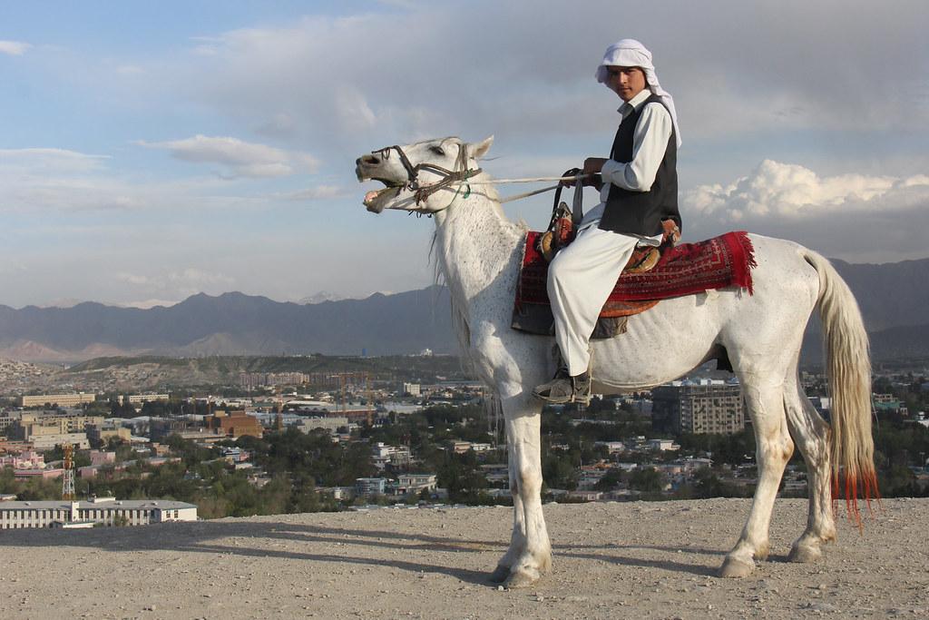 Afghanistan >> Afghan on roaring horse | 2013-05-05 Evening in Kabul, Afgha… | Flickr