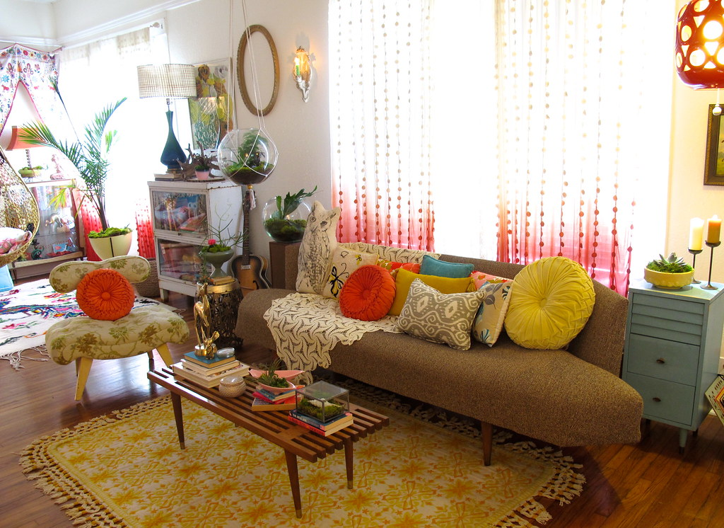 vintage bohemian living room Valerie Flickr